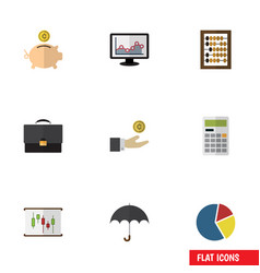 Flat icon incoming set of counter diagram vector