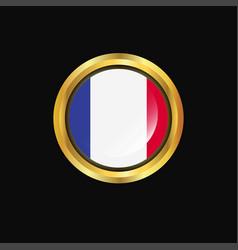 france flag golden button vector image