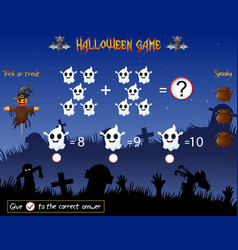 Game count the ghost in the halloween theme vector