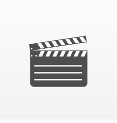 gray clapperboard icon isolated on background mod vector image