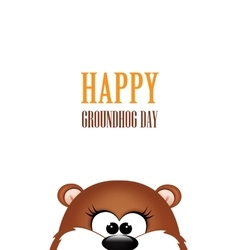 Groundhog day Marmot on white background vector image