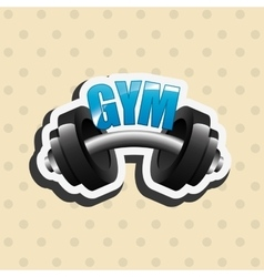 Gym concept design vector