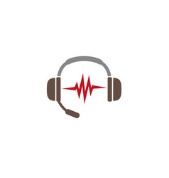 Headphones with heart beats kopfhrer mit vector