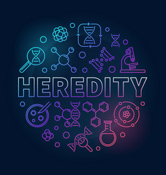 heredity circular colorful linear vector image