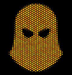 Hexagon halftone terrorist balaklava icon vector