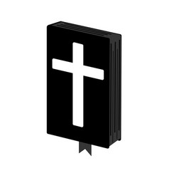 Holy bible simple icon vector