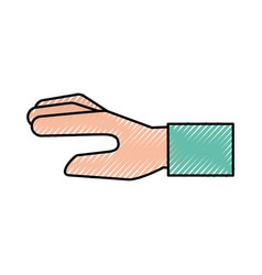 Human hand cartoon vector