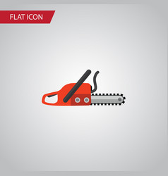 isolated saw flat icon hacksaw element can vector image