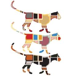 Leopard mosaics vector image