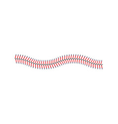 Line red stitches or lace game ball vector
