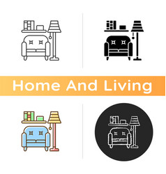 living room furniture icon vector image