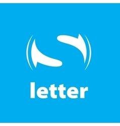 logo letter S vector image
