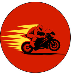 Motorcycle racer on vector