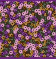 multycolor floral seamless pattern vector image
