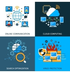 Network Security Concept Set vector