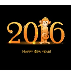 New Year card with monkey4 vector image