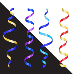 new year color serpentine vector image