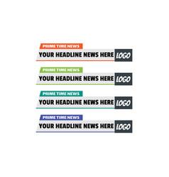 news lower thirds design template set vector image