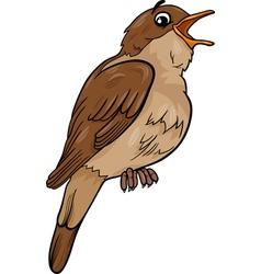 nightingale bird cartoon vector image vector image