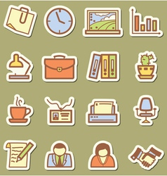 offise icons vector image