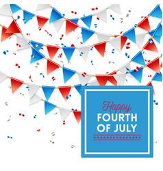 patriotic happy fourth of july card design vector image