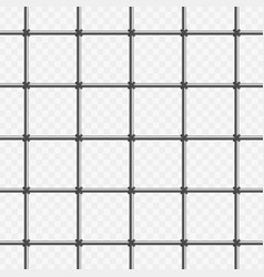 prison bars on transparent vector image