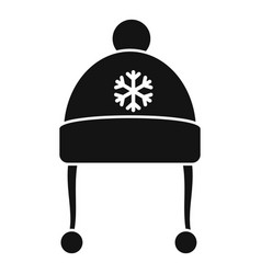 red winter hat icon simple style vector image