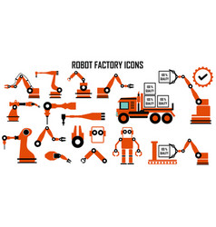 robot mechanic factory industry manufacture vector image
