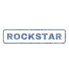 Rockstar textile stamp vector