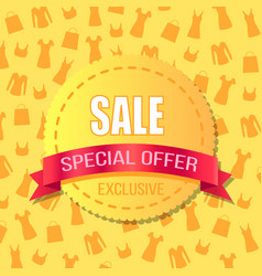 Sale special offer exclusive advirtising banner vector