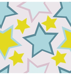 seamless background with star vector image