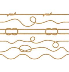 seamless marine rope nautical knot pattern vector image