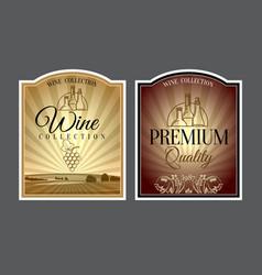 set labels for wine vector image