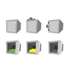 Set of cartoon safes vector