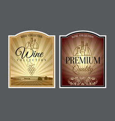 Set of labels for wine vector