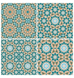 Set of mosaic patterns vector image