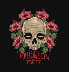 skull halloween vector image
