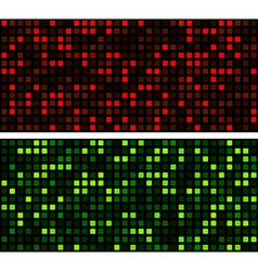 Squares technology pattern banners vector