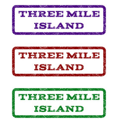 Three mile island watermark stamp vector