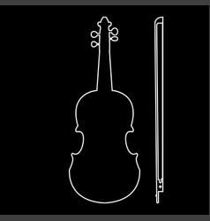 Violin the white path icon vector