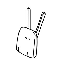 wireless icon doodle hand drawn or outline icon vector image