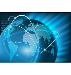 Internet Global Business vector image vector image