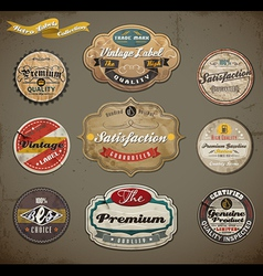 Vintage and Retro Labels vector image vector image