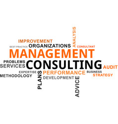 word cloud - management consulting vector image vector image