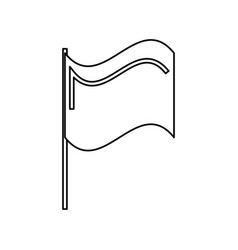flag isolated symbol vector image