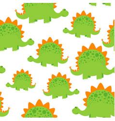 green dinosaur pattern vector image