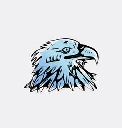 hand-draw bird eagle hawkkitevulture stencil vector image vector image
