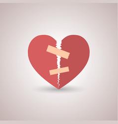 icon broken heart vector image