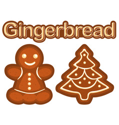 bright colorful poster with ginger bread cookie vector image vector image
