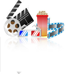 Cinema collection vector image vector image